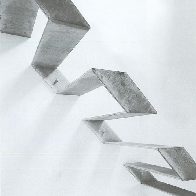 Futuristische Stahltreppe