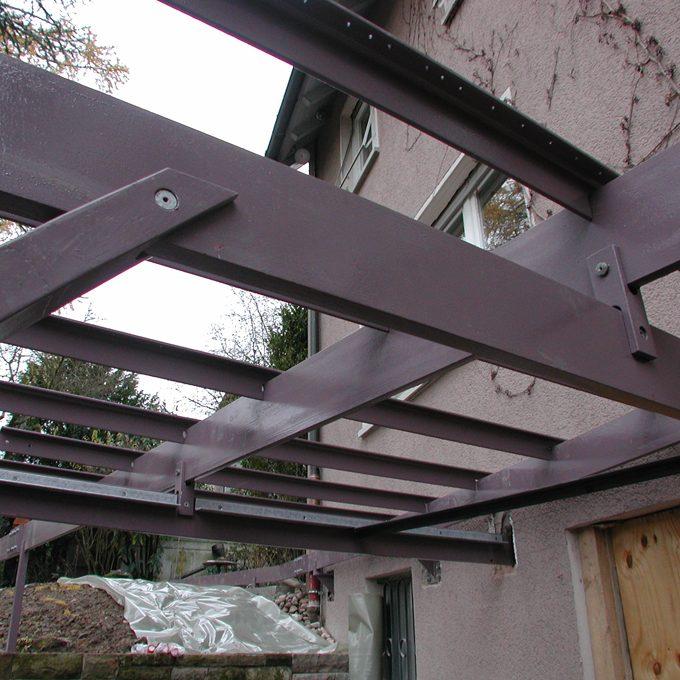 Unterbau für Terrasse
